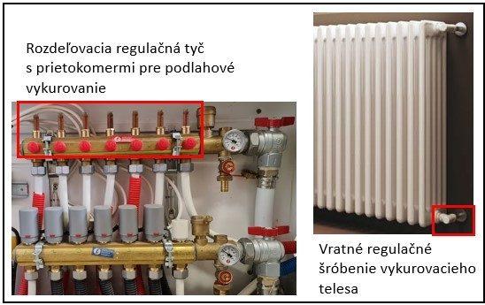 Rozdelovac radiator regulacia