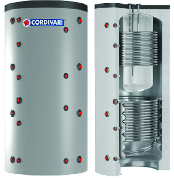 COMBI 3 - Akumulačná nádoba s bojlerom a 2 výmenníkmi