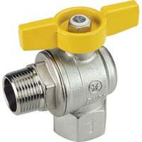 R781 Guľový ventil rohový MF